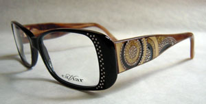 Bold glasses with rhinestones
